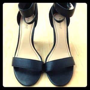Ankle strap black heels